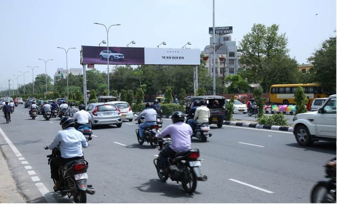 Gantry at JLN Marg Trimurti Circle|Gantry Ads in Jaipur, Outdoor Hoardings in India